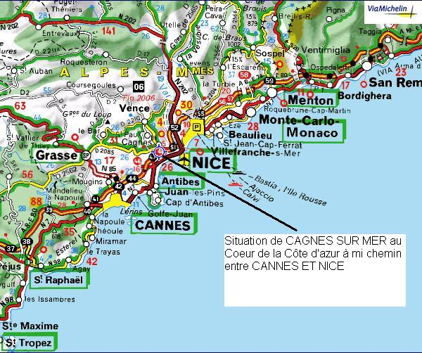 geographical location accessibility cagnes sur mer tourist information office. Black Bedroom Furniture Sets. Home Design Ideas